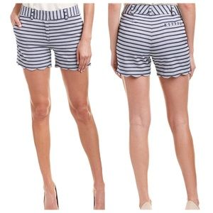 J. McLaughlin Petal Scallop Stripe Shorts